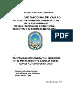 Contaminacion Sonora y Sus Incidencias Causadas Por El Parque Automotor
