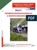 MÓDULO III Procedimientos Operacionales Transporte Hidrocarburos