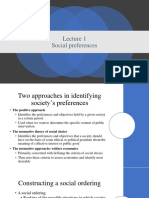 Lecture Social Preferences