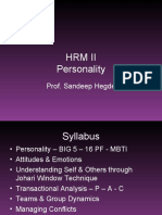 HRM II - Session 1 - Personality - 16 PF