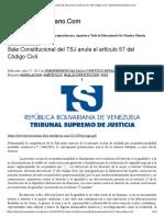Sala Constitucional Del TSJ Anula El Artículo 57 Del Código Civil _ DerechoVenezolano
