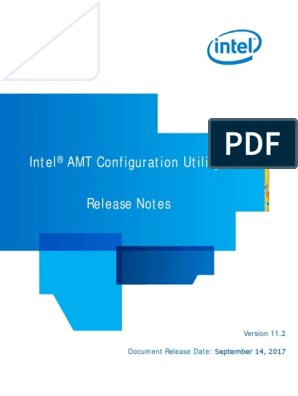 Intel(R) AMT Configuration Utility Release Notes   Command