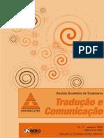 Revista Tradução e Comunicação