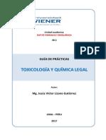 _Guia de Practicas - Toxicologia y Quimica Legal LIZANO 2017