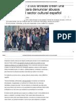 Las Pandoras_ 3.000 Artistas Crean Una Organización Para Denunciar Abusos Sexuales en El Sector Cultural Español