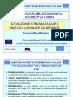 """Prezentacija uz izlaganje na temu """"Nevladine organizacije i razvoj lokalne zajednice"""""""