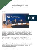 Empresarios Demandan Graduados Universitarios _ Siglo
