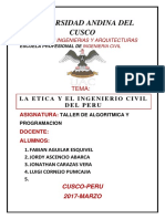 Etica Del Ingeniero Civil - Semestre III