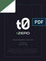 TZERO White Paper