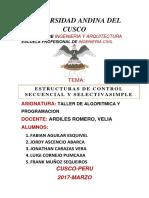 Estructura Secuencial y Selectiva - Semestre III