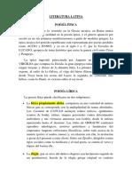 Literatura Latina 1