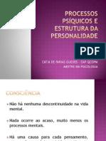 1 - PROCESSOS PSÍQUICOS e ESTRUTURA DA PERSONALIDADE