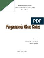 Curva de Inversion de Obras Civiles