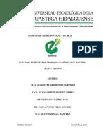 Guía Para Estructurar Trabajos Académicos en La UTHH