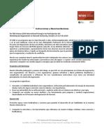 WNH 102017 Instrucciones y Recomendaciones