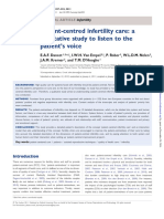 Patientcentred Infertility Care a Qualitative Study to Listen to the Patients Voice Hum Reprod 2011 Apr26482733 Doi 101093humrepder022