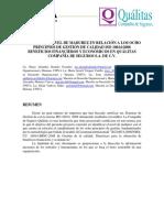 Análisis Del Nivel de Madurez en Relación a Los Ocho Principios de Gestión de Calidad Iso 10014 (1)