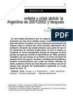 Crisis Alimentaria y Crisis Global. La Argentina de 2001 2002 y Después
