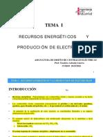 Tema 1-Recursos Energéticos y Producción Eléctrica