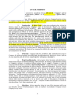 Form of Advisor Agreement [Cooley]