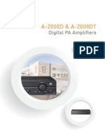 1231 a 2000d a 2000dt Series Digital Pa Amplifiers Brochure Brochure
