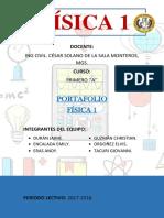 Portafolio  Física 1 ingeniería civil UTMACH.