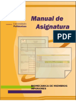 Biomecanica de Miembros Inferiores Manual