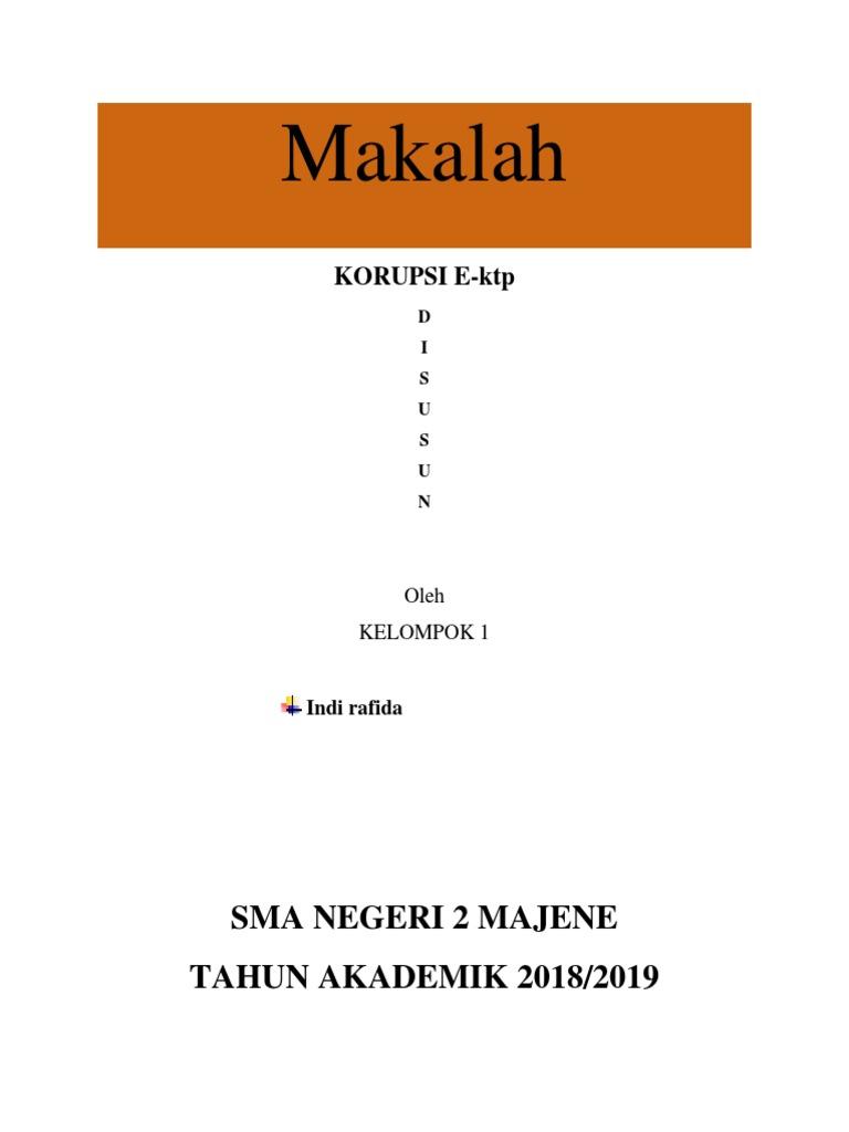 Makalah Korupsi E Ktp 2017