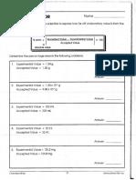 Percent Error Practice Worksheet