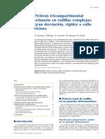 04 - Prótesis Tricompartimental Primaria en Rodillas Complejas Gran Desviación, Rigidez o Callo Vicioso