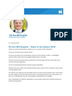 Bill English - State of the nation 2018