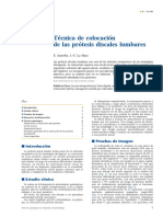 01 - Técnica de Colocación de Las Prótesis Discales Lumbares