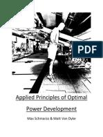 Applied Principles of Optimal Power Development