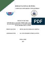 Proyecto de Tesis Estudio de La Cultura Tributaria y Su Relacion Con El Pago Del Ivpp en El Distrito de La Union