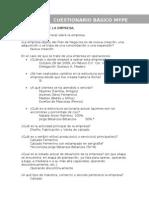 Cuestionario PYMES