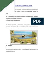 Los Ecosistemas Del Perú