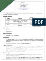 Arun Pr Resume