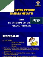 Penulisan Resume Bahasa Melayu