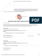 Jenis Jenis Input Type Yang Hanya Ada Di HTML 5 - Jagocoding