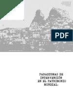 Tesina Paradigmas de Intervención en El Patrimonio Mundial. Betiana Pérez