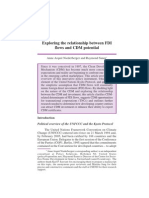 Exploring the Relationship Btw FDI Inflows and CDM