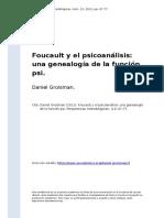 Daniel Groisman (2012). Foucault y el psicoanalisis una genealogia de la funcion psi.pdf