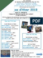 SIHVA Prog Hiver 18