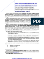 Promotion of social capital
