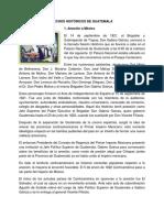 Hechos Históricos de Guatemala