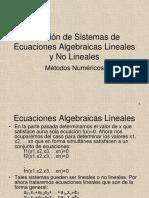 Solucion de Sistemas de Ecuaciones