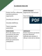 Evaluacion Del Analisis Foda Chn 1