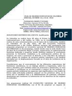 ion Detallada Encuentro Nacional de Mujeres Feminist As de Colombia