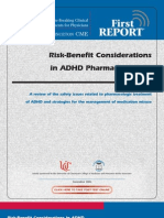 Risk-Benefit Considerations in ADHD