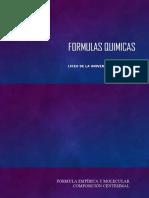 Formulas y Moleculas